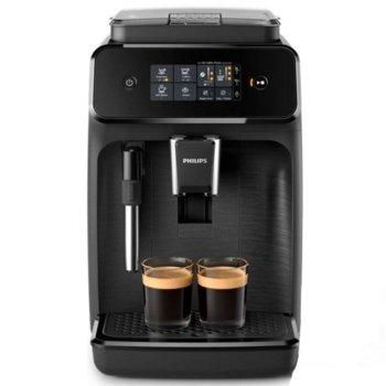 Кафемашина Philips EP1220/00, 1000W, 15 bar, уред за млечна пяна, черна image