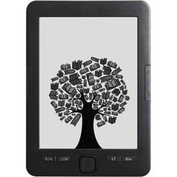 "Електронна книга Alcor Myth (черна), 6"" (15.24 cm) e-ink екран, процесор 600 MHz, 4GB Flash памет (+ microSD слот), 1500 mAh батерия, 160g image"
