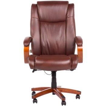 Президентски офис стол Carmen 5024, естествена кожа, механизъм за регулиране на височината, люлеещ механизъм, кестен image