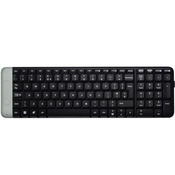 Клавиатура Logitech K230, безжична, компактна, черна, Nano-receiver, USB image