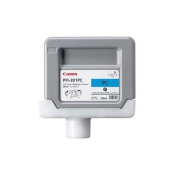 ГЛАВА CANON Pigment Ink Tank, iPF8000/iPF9000 - Photo Cyan - PFI-301C - P№1490B001 - заб.:330ml.  image