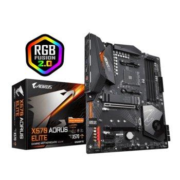 Дънна платка Gigabyte X570 AORUS ELITE, X570, AM4, DDR4, PCIe 4 (HDMI), (CF), 6x SATA 6Gb/s, 3x M.2, 4x USB 3.2, ATX image