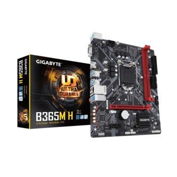 Дънна платка Gigabyte B365M H, B365, LGA1151, DDR4, PCI-Е (D-Sub&HDMI), 4x SATA 6Gb/s, 1x M.2, USB 3.1 Gen, Micro ATX image
