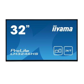 "Дисплей Iiyama LH3246HS-B1, 31.5"" (80.01 cm), Full HD, HDMI, DisplayPort, VGA, DVI, USB, RS232 image"