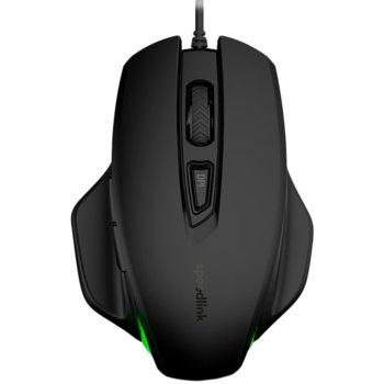 Мишка Speedlink Garrido, оптична 2400 dpi, геймърска, подсветка, 5 бутона, USB, черна image