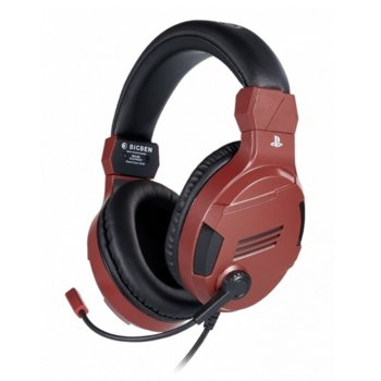 Слушалки Nacon Bigben PS4 Official Headset V3, гейминг, микрофон, за PS4, червени image