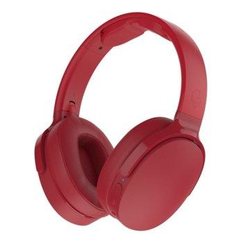 Слушалки Skullcandy Hesh 3 Wireless, безжични, микрофон, Bluetooth, червени image