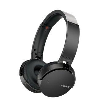 Слушалки Sony Headset MDR-XB650BT, Bluetooth, безжични, NFC, черни image
