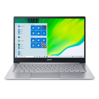 "Лаптоп Acer Swift 3 SF314-59 (NX.A0MEX.00D)(сребрист), двуядрен Tiger Lake Intel Core i3-1115G4 3.0/4.1 GHz, 14.0"" (35.56 cm) Full HD IPS Anti-Glare Display, (HDMI), 8GB DDR4, 256GB SSD, 1x USB Type-C, Windows 10 Home image"