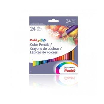Цветни моливи Pentel Arts, 24 цвята image