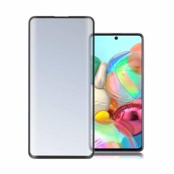 Протектор от закалено стъкло /Tempered Glass/, 4smarts, за Samsung Galaxy A71, черен-прозрачен image