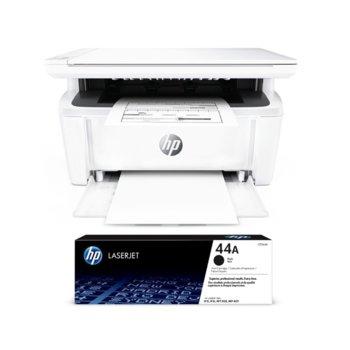 Мултифункционално лазерно устройство HP LaserJet Pro MFP M28a в комплект с тонер касета CF244A (1000 копия), монохромен, принтер/копир/скенер, 600 x 600 dpi, 18 стр/мин, USB, A4 image