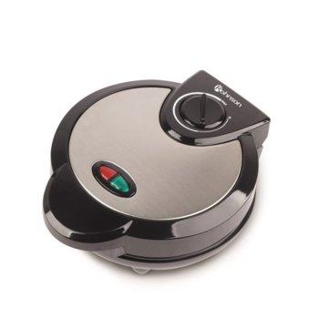 Гофретник Rohnson R 268, плочи – тип детелина, индикатор за включване и готовност, 1200W, инокс  image
