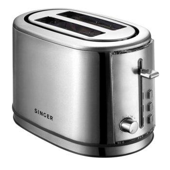 Тостер Singer STO 850 INOX, препичане/размразяване/претопляне, функция за автоматично изключване, 850W image