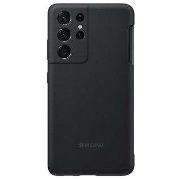 Калъф за Samsung Galaxy S21 Ultra, термополиуретанов, Samsung Silicone Cover EF-PG99PTB, черен image