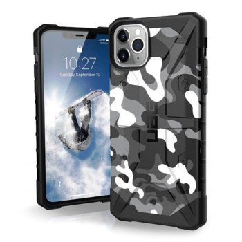 Калъф за Apple iPhone 11 Pro Max, хибриден, Urban Armor Pathfinder Camo 111727114060, удароустойчив, сив камуфлаж image