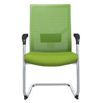 Посетителски стол RFG Snow M, до 120кг, дамаска/меш, зелен, 2 броя в комплект image