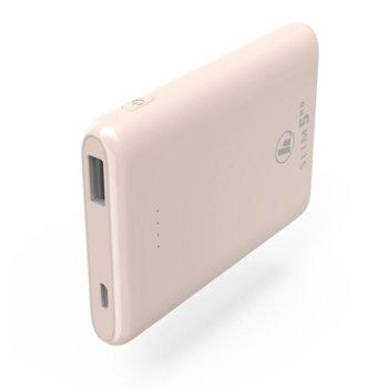 Външна батерия /power bank/ Hama SLIM 5HD, 5000 mAh, розова, 1x microUSB Type B, 1x USB Type A image