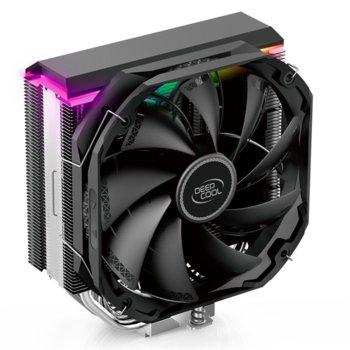 Охлаждане за процесор DeepCool AS500 aRGB, съвместимост с Intel LGA 1150/1155/1156/2011-0/2011-3/2066 & AMD FM1/FM2/FM2+/AM2/AM2+/AM3/AM3+ image