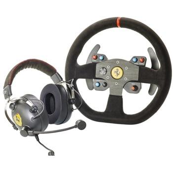 Волан Thrustmaster Ferrari 599XX EVO Edition + слушалки T.Racing Ferrari GT Edition (4160771), черни image