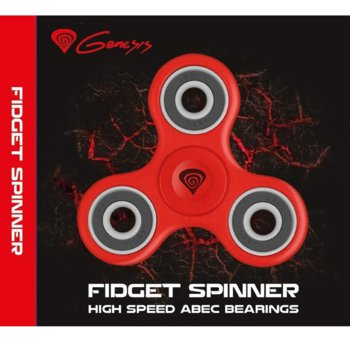 Спинър Genesis Fidget Spinner NIM-1045, червен, пластмаса, 8+ image