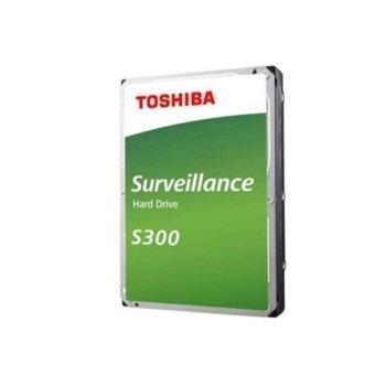 """Твърд диск 10TB Toshiba S300, SATA 6Gb/s, 7200 rpm, 256MB, 3.5"""" (8.89cm), Bulk image"""