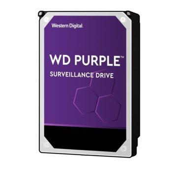 "Твърд диск 10TB WD Purple Surveillance, SATA3 6Gb/s, 7200 rpm, 256MB, 3.5"" (8.89 cm) image"