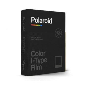 Фотохартия Polaroid Color film for i-Type – CBlack Frame Edition, 4 x 3 inch, за Polaroid Now, 8 листа image