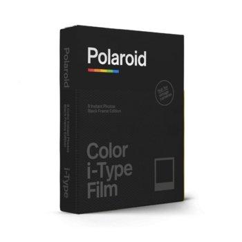 Фотохартия Polaroid Color film for i-Type – CBlack Frame Edition, 4 x 3 inch, за Polaroid Now, 8 листа image