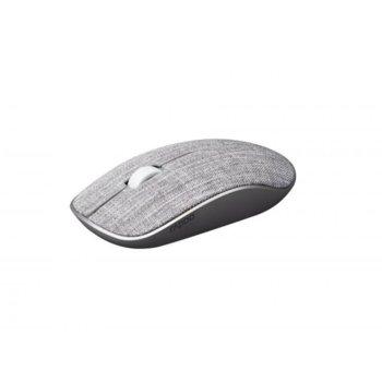 Мишка Rapoo 3510 Plus, оптична (1000dpi), безжична, USB, сива, покритие от плат image