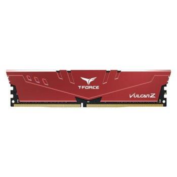 Памет 16GB DDRR4 2666MHz, Team Group T-Force Vulcan Z Red TLZRD416G2666HC18H01, 1.2V image