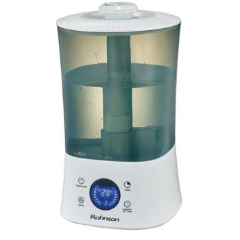 Овлажнител Rohnson R-9508, капацитет до 350 мл./ч., LED дисплей и осветление, Йонизатор, 30 W, бял image