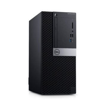 Настолен компютър Dell Optiplex 5070 MT (#DELL02542), шестядрен Coffee Lake Intel Core i7-8700 3.2/4.6 GHz, 32GB DDR4, 512GB SSD, 1x USB 3.1 Gen 2 Type-C, клавиатура и мишка, Linux  image