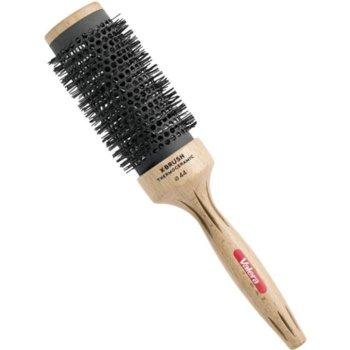 Четка за коса VALERA 903.04 X-BRUSH, ръчно полирана дръжка от естествен бук, солиден керамичен слой (Aerospace Technology), кафява image