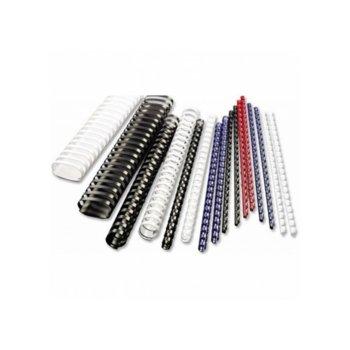 Спирала за подвързване, диаметър 6 mm, капацитет до 25 листа, бяла image