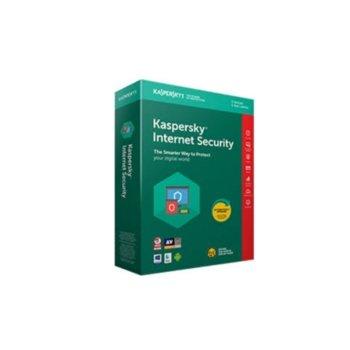 Софтуер Kaspersky Internet Security 2020, 1 потребител, 1 година Renewal, Box image