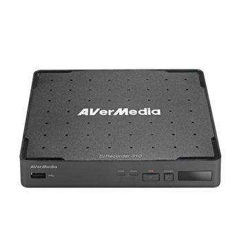 """Аналогов HD (AHD) видеорекордер Aver Media EZrecorder 310 AVT, MP4(H.264/AAC), SATA 2.5"""" (6.35 cm), 1x HDMI, 1x USB 2.0, 1x RJ-45, 1x HDMI image"""