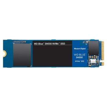 Памет SSD 500GB, Western Digital Blue SN550 (WDS500G2B0C), PCIe Gen 3 NVMe, M.2, скорост на четене 2400 MB/s, скорост на запис 1750 MB/s image