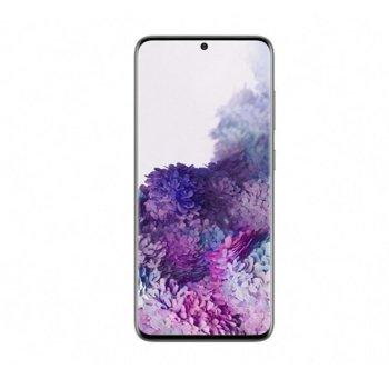 "Смартфон Samsung Galaxy S20 (сив), поддържа 2 sim карти, 6.2"" (15.748 cm) WQHD+ 120Hz Super Dynamic AMOLED 2X дисплей, осемядрен Exynos 990 2.73 GHz, 8GB RAM, 128GB Flash памет (+microSDXC), 12.0 + 64.0 + 12.0 & 10.0 Mpix, Android 10.0, 163g image"