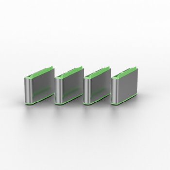Блокери Lindy 40426, за блокиране на достъпа до USB Type-C/Thunderbolt 3, 1 ключ и 4 порт блокера image