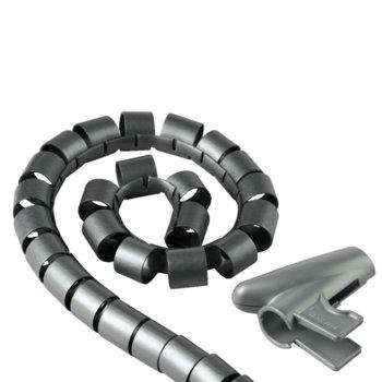 Шлаух спирала Hama 20600, полиетиленова, 20мм диаметър, 2.5м дължина, сив image