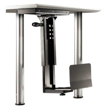 Поставка за PC кутия Roline 17.03.1129, стабилна стоманена конструкция, регулируема височина и ширина, до 30 kg, черна image