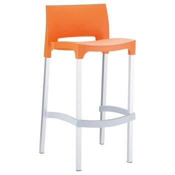 Бар стол RFG Joy, пластмасов, оранжев image