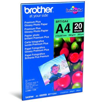 Фотохартия Brother BP-71, A4, гланцирана, 260 g/m2, 20 листа image