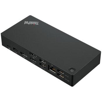 Докинг станция Lenovo ThinkPad USB-C Dock Gen2, 2x Display Port, 1x HDMI, 3x USB3.1, 2x USB 2.0, 1x Combo Audio Jack, 1x RJ-45, черна image