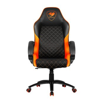 Геймърски стол Cougar Fusion, газов амортисьор, до 120kg, оранжев image