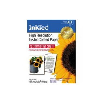 Фотохартия INKTEC Coated Paper, A3, гланцирана, 105 g/m2, 100 листа image