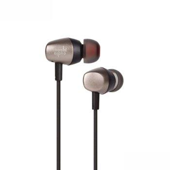 """Слушалки Moshi Mythro 99MO035241, тип """"тапи"""", микрофон, 3.5mm жак, сиви image"""