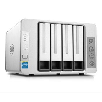 Мрежови диск (NAS) TerraMaster F4-420, четириядрен Intel Celeron J1900 2/2.42GHz, без твърд диск (4x SATA), 4GB RAM, 2x LAN1000, 1x USB 3.0 image
