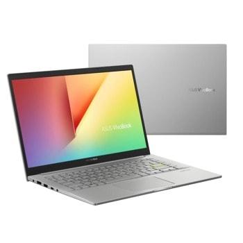 "Лаптоп Asus Vivobook K413EA-WB511T (90NB0RLB-M13110)(сребрист), четириядрен Tiger Lake Intel Core i5-1135G7 2.4/4.2 GHz, 14.0"" (35.56 cm) Full HD Anti-Glare Display, (HDMI), 8GB DDR4, 512GB SSD, 1x USB 3.2 Gen 1 Type-C, Windows 10 Home image"
